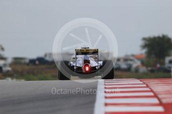 World © Octane Photographic Ltd. Sauber F1 Team C34-Ferrari – Marcus Ericsson. Friday 23rd October 2015, F1 USA Grand Prix Practice 1, Austin, Texas - Circuit of the Americas (COTA). Digital Ref: 1460LB1D9587