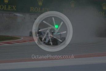 World © Octane Photographic Ltd. Mercedes AMG Petronas F1 W06 Hybrid – Lewis Hamilton. Sunday 25th October 2015, F1 USA Grand Prix Qualifying, Austin, Texas - Circuit of the Americas (COTA). Digital Ref: 1464LB1D0745