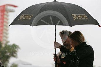 World © Octane Photographic Ltd. Lotus F1 Team E23 Hybrid – Romain Grosjean. Sunday 25th October 2015, F1 USA Grand Prix Qualifying, Austin, Texas - Circuit of the Americas (COTA). Digital Ref: 1464LB1D1197