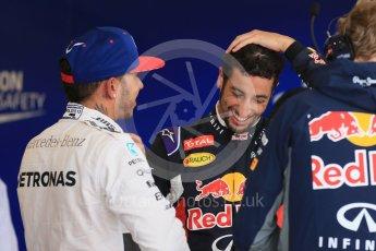 World © Octane Photographic Ltd. Infiniti Red Bull Racing RB11 – Daniel Ricciardo and Mercedes AMG Petronas F1 W06 Hybrid – Lewis Hamilton. Sunday 25th October 2015, F1 USA Grand Prix Qualifying, Austin, Texas - Circuit of the Americas (COTA). Digital Ref: 1464LB1D1266