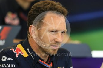 World © Octane Photographic Ltd. FIA Team Personnel Press Conference. Friday 23rd October 2015, F1 USA Grand Prix, Austin, Texas - Circuit of the Americas (COTA). Infiniti Red Bull Racing Team Principal – Christian Horner. Digital Ref: 1462LB1D9708