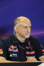 World © Octane Photographic Ltd. FIA Team Personnel Press Conference. Friday 23rd October 2015, F1 USA Grand Prix, Austin, Texas - Circuit of the Americas (COTA). Scuderia Toro Rosso – Franz Tost. Digital Ref: 1462LB1D9789