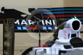 World © Octane Photographic Ltd. Williams Martini Racing FW37. Wednesday 21st October 2015, F1 USA Grand Prix Set Up, Austin, Texas - Circuit of the Americas (COTA). Digital Ref: 1457LB1D8153