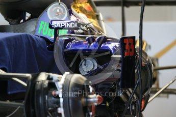 World © Octane Photographic Ltd. Scuderia Toro Rosso STR10. Wednesday 21st October 2015, F1 USA Grand Prix Set Up, Austin, Texas - Circuit of the Americas (COTA). Digital Ref: 1457LB1D8387