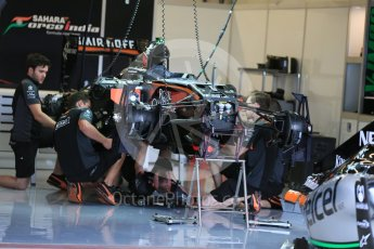 World © Octane Photographic Ltd. Sahara Force India VJM08B. Wednesday 21st October 2015, F1 USA Grand Prix Set Up, Austin, Texas - Circuit of the Americas (COTA). Digital Ref: 1457LB5D2707