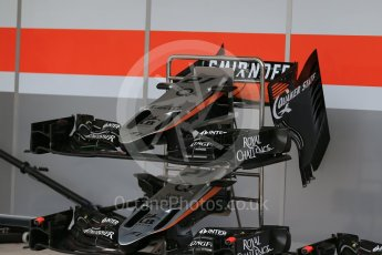 World © Octane Photographic Ltd. Sahara Force India VJM08B. Wednesday 21st October 2015, F1 USA Grand Prix Set Up, Austin, Texas - Circuit of the Americas (COTA). Digital Ref: 1456LB1D7590