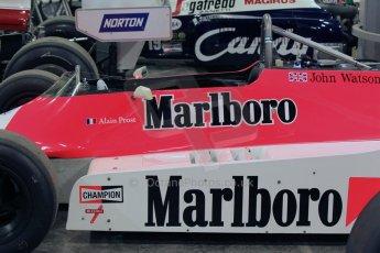 World © Octane Photographic Ltd. Saturday 2nd May 2015. Donington Historic Festival - Historic F1 Car demonstration laps. 1980 McLaren M29 (Ex John Watson and Alain Prost). Digital Ref : 1240CB1L5313