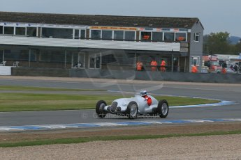 World © Octane Photographic Ltd. Saturday 2nd May 2015. Donington Historic Festival - Historic F1 Car demonstration laps. Replica Mercedes W125 (1937) – Kevin Wheatcroft. Digital Ref : 1240LB1D5350