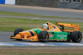 World © Octane Photographic Ltd. Saturday 2nd May 2015. Donington Historic Festival - Historic F1 Car demonstration laps. 1993 Benetton B193B/4 (Ex-Michael Shumacher). Digital Ref : 1240LB7D1129