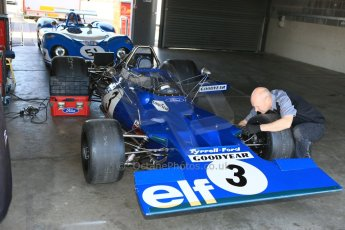 World © Octane Photographic Ltd. Donington Park general unsilenced testing June 4th 2015. Rob Hall testing an ex-Jackie Stewart Tyrrell 003 - FIA Historic F1 Championship/Masters GP. Digital Ref :