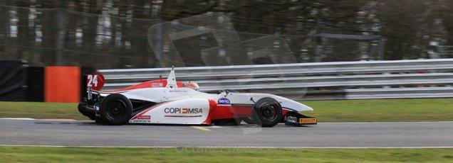 World © Octane Photographic Ltd. DUO BRDC Formula 4 Qualifying, Oulton Park, UK, Saturday 4th April 2015. MSV F4-013. Douglas Motorsport. Fernando Urrutia. Digital Ref : 1213LB1D2771