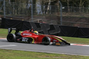 World © Octane Photographic Ltd. DUO BRDC Formula 4 Qualifying, Oulton Park, UK, Saturday 4th April 2015. MSV F4-013. CDR – Chris Dittmann Racing. Tom Jackson. Digital Ref : 1213LB1D2904