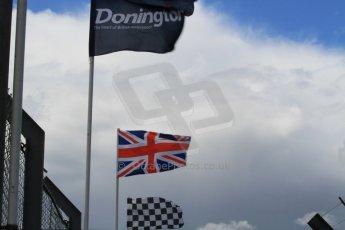 World © Octane Photographic Ltd. Saturday 25th April 2015, MSVR F3 Cup Race 1. Donington Park. Donington, checkered and British flags. Digital Ref: 1235CB7B1855