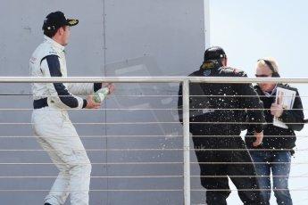 World © Octane Photographic Ltd. Saturday 25th April 2015, MSVR F3 Cup Race 1 podium. Donington Park. Chris Dittmann Racing (CDR) – Kieran Vernon – Dallara F307 Mercedes HWA. Digital Ref: 1235CB7L7384