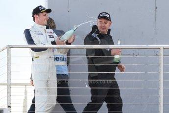 World © Octane Photographic Ltd. Saturday 25th April 2015, MSVR F3 Cup Race 1 podium. Donington Park. Chris Dittmann Racing (CDR) – Kieran Vernon – Dallara F307 Mercedes HWA. Digital Ref: 1235CB7L7396