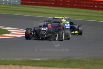World © Octane Photographic Ltd. FIA European F3 Championship, Silverstone Race 2, UK, Saturday 11th April 2015. Eurointernational – Nicolas Beer, Dallara F312 – Mercedes-Benz and Van Amersfoort Racing – Alessio Lorandi, Dallara F312 – Volkswagen. Digital Ref : 1223LB1D8016