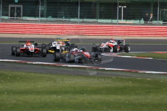 World © Octane Photographic Ltd. FIA European F3 Championship, Silverstone Race 2, UK, Saturday 11th April 2015. Prema Powerteam – Felix Rosenqvist, Dallara F312 – Mercedes-Benz and Fortec Motorsports – Hongwei Cao, Dallara F312 – Mercedes-Benz. Digital Ref : 1223LB1D8077