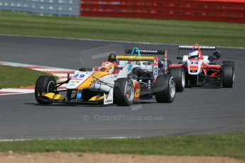 World © Octane Photographic Ltd. FIA European F3 Championship, Silverstone Race 2, UK, Saturday 11th April 2015. Van Amersfoort Racing – Arjun Maini, Dallara F312 – Volkswagen, Motopark – Nabil Jeffri, Dallara F312 – Volkswagen and Fortec Motorsports – Matthew Rao, Dallara F312 – Mercedes-Benz. Digital Ref : 1223LB1D8089