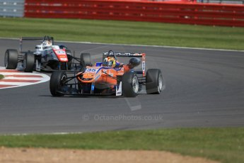 World © Octane Photographic Ltd. FIA European F3 Championship, Silverstone Race 2, UK, Saturday 11th April 2015. kfzteile24 Mucke Motorsport – Kang Ling, Dallara F312 – Mercedes-Benz and Motopark – Mahaveer Raghunathan, Dallara F312 – Volkswagen. Digital Ref : 1223LB1D8093