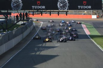 World © Octane Photographic Ltd. FIA European F3 Championship, Silverstone Race 3, UK, Sunday 12th April 2015. Race start. Digital Ref : 1224LB1D8278