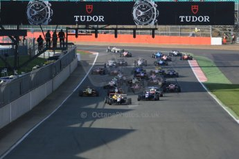 World © Octane Photographic Ltd. FIA European F3 Championship, Silverstone Race 3, UK, Sunday 12th April 2015. Race start. Digital Ref : 1224LB1D8283