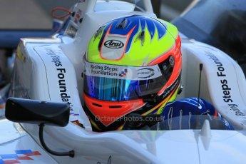 World © Octane Photographic Ltd. FIA European F3 Championship, Silverstone Race 3 parc ferme, UK, Sunday 12th April 2015. Prema Powerteam – Jake Dennis, Dallara F312 – Mercedes-Benz. Digital Ref : 1224LW1L0849