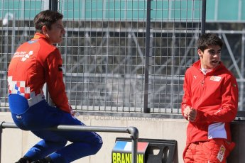 World © Octane Photographic Ltd. FIA European F3 Championship, Silverstone test day, UK, Tuesday 7th April 2015. Prema Powerteam – Jake Dennis and Lance Stroll, Dallara F312 – Mercedes-Benz. Digital Ref :