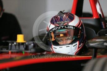 World © Octane Photographic Ltd. FIA Formula E testing – Donington Park 10th August 2015, Venturi VM200-FE-01. Venturi – Stephane Sarrazin. Digital Ref : 1366LB1D4366
