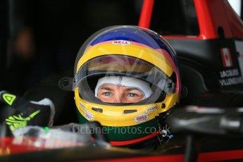 World © Octane Photographic Ltd. FIA Formula E testing – Donington Park 10th August 2015, Venturi VM200-FE-01. Venturi – Jacques Villeneuve. Digital Ref : 1366LB1D4421