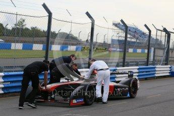 World © Octane Photographic Ltd. FIA Formula E testing – Donington Park 11th August 2015, Venturi VM200-FE-01. Venturi – Jacques Villeneuve stopped on track. Digital Ref : 1367LB1D4709