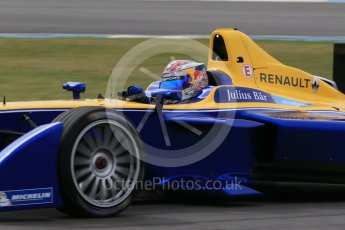 World © Octane Photographic Ltd. FIA Formula E testing – Donington Park 11th August 2015, Renault Z.E.15. Renault e.Dams – Sebastien Buemi. Digital Ref : 1367LB1D4789