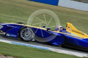 World © Octane Photographic Ltd. FIA Formula E testing – Donington Park 11th August 2015, Renault Z.E.15. Renault e.Dams – Sebastien Buemi. Digital Ref : 1367LB1D5283