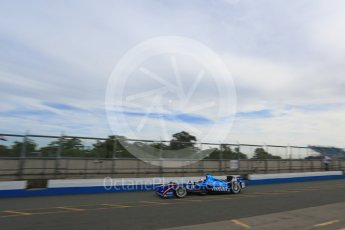 World © Octane Photographic Ltd. FIA Formula E testing – Donington Park 11th August 2015, Andretti ATEC-01. Amlin-Andretti – Simona di Silvestro. Digital Ref : 1367LB5D2419