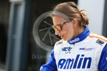 World © Octane Photographic Ltd. FIA Formula E testing – Donington Park 11th August 2015, Andretti ATEC-01. Amlin-Andretti – Simona di Silvestro. Digital Ref : 1367LB5D2504