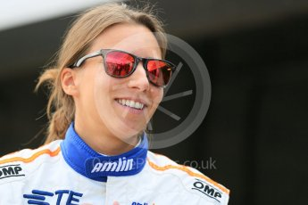 World © Octane Photographic Ltd. FIA Formula E testing – Donington Park 11th August 2015, Andretti ATEC-01. Amlin-Andretti – Simona di Silvestro. Digital Ref : 1367LB5D2507