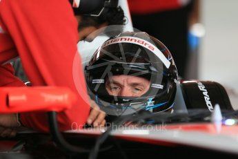 World © Octane Photographic Ltd. FIA Formula E testing – Donington Park 17th August 2015, Mahindra M2ELECTRO. Mahindra – Nick Heidfeld. Digital Ref : 1368LB1D5470