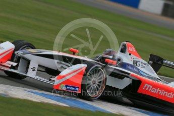World © Octane Photographic Ltd. FIA Formula E testing – Donington Park 17th August 2015, Mahindra M2ELECTRO. Mahindra – Nick Heidfeld. Digital Ref : 1368LB1D5772