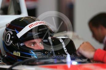 World © Octane Photographic Ltd. FIA Formula E testing – Donington Park 17th August 2015, Mahindra M2ELECTRO. Mahindra – Nick Heidfeld. Digital Ref : 1368LB1D5819