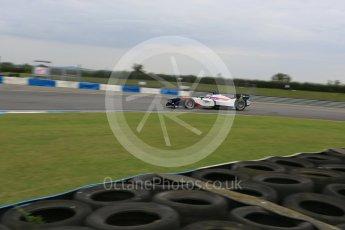 World © Octane Photographic Ltd. FIA Formula E testing – Donington Park 17th August 2015, SRT01-e. Team Aguri – Nicolas Lapierre. Digital Ref : 1368LB5D2869