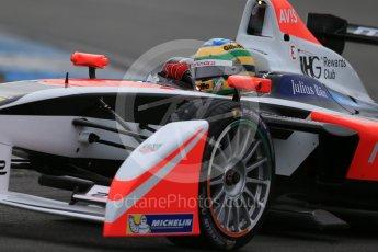 World © Octane Photographic Ltd. FIA Formula E testing – Donington Park 18th August 2015, Mahindra M2ELECTRO. Mahindra – Bruno Senna. Digital Ref : 1369LB1D6510