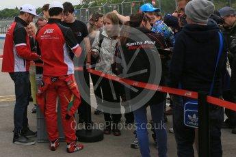 World © Octane Photographic Ltd. FIA Formula E testing – Donington Park 18th August 2015, ABT Shaeffler FE01. ABT Shaeffler Audi Sport – Lucas di Grassi and Daniel Abt. Digital Ref : 1369LB5D6182