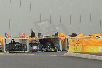 World © Octane Photographic Ltd. Saturday 2nd May 2015 Donington Park base. Cars packing for Monaco ePrix. Digital Ref : 1243CB1L5068