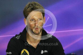 World © Octane Photographic Ltd. FIA Drivers' Press Conference. Thursday 23rd July 2015, F1 Hungarian GP, Hungaroring, Hungary. Lotus F1 Team – Romain Grosjean. Digital Ref: 1345LB1D7200