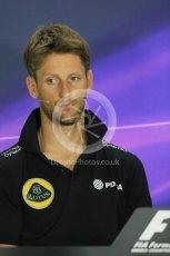 World © Octane Photographic Ltd. FIA Drivers' Press Conference. Thursday 23rd July 2015, F1 Hungarian GP, Hungaroring, Hungary. Lotus F1 Team – Romain Grosjean. Digital Ref: 1345LB1D7249
