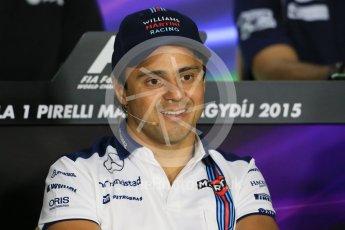 World © Octane Photographic Ltd. FIA Drivers' Press Conference. Thursday 23rd July 2015, F1 Hungarian GP, Hungaroring, Hungary. Sauber F1 Team – Felipe Nasr. Digital Ref: 1345LB1D7494