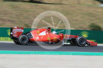 World © Octane Photographic Ltd. Scuderia Ferrari SF15-T– Sebastian Vettel. Friday 24th July 2015, F1 Hungarian GP Practice 2, Hungaroring, Hungary. Digital Ref: 1348CB1L5402