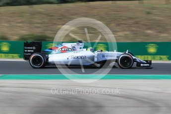 World © Octane Photographic Ltd. Williams Martini Racing FW37 – Felipe Massa. Friday 24th July 2015, F1 Hungarian GP Practice 2. Hungaroring, Hungary. Digital Ref: 1348CB1L5458