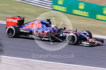 World © Octane Photographic Ltd. Scuderia Toro Rosso STR10 – Max Verstappen. Friday 24th July 2015, F1 Hungarian GP Practice 2, Hungaroring, Hungary. Digital Ref: 1348CB1L5482