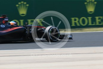 World © Octane Photographic Ltd. McLaren Honda MP4/30 – Fernando Alonso. Friday 24th July 2015, F1 Hungarian GP Practice 2. Hungaroring, Hungary. Digital Ref: 1348LB1D8629