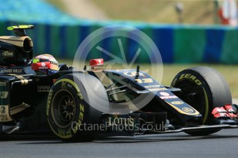 World © Octane Photographic Ltd. Lotus F1 Team E23 Hybrid – Pastor Maldonado. Friday 24th July 2015, F1 Hungarian GP Practice 2, Hungaroring, Hungary. Digital Ref: 1348LB1D9005